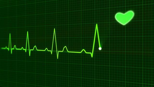 bicie serca nawykresie