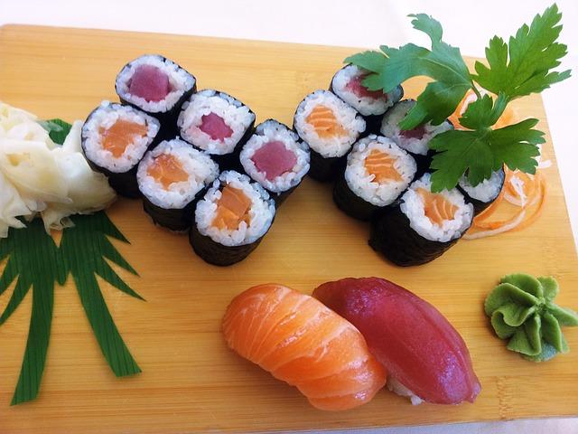 sushi złososiem